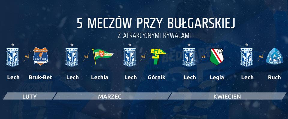 Przeciwnicy Lecha Poznań na Wiosnę 17